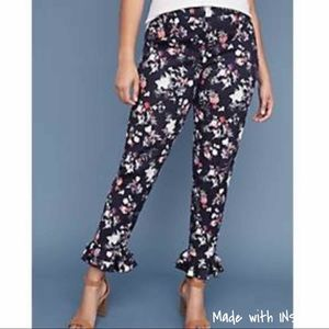 NWT Lane Bryant Floral Stretch Ankle Pants